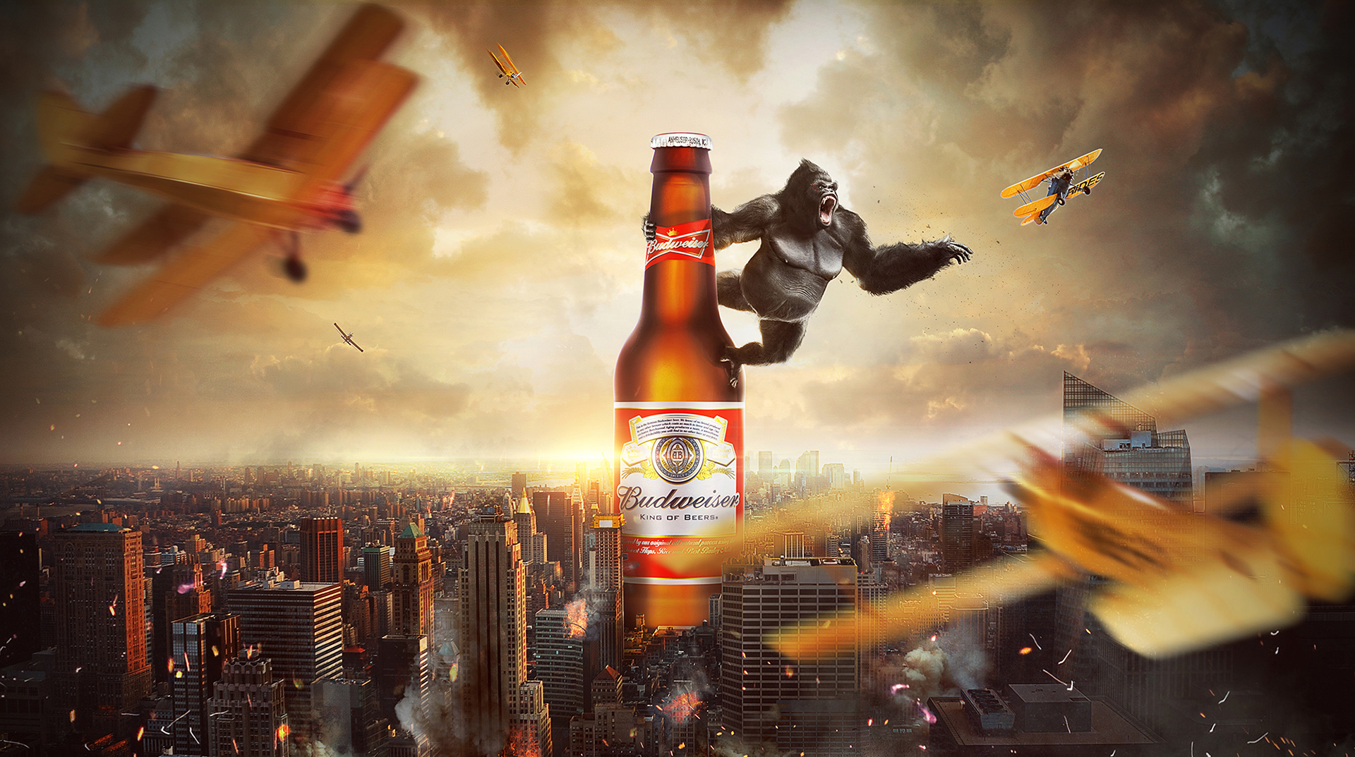 digital imaging  budweiser vietnam vietnam photo manipulation vietnam composite photography photography advertising in vietnam