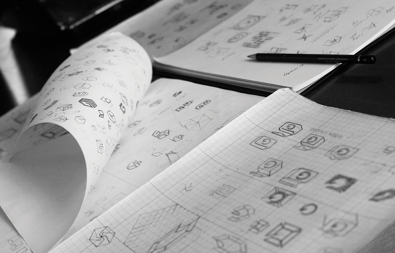 Logo Sketch process-bratus