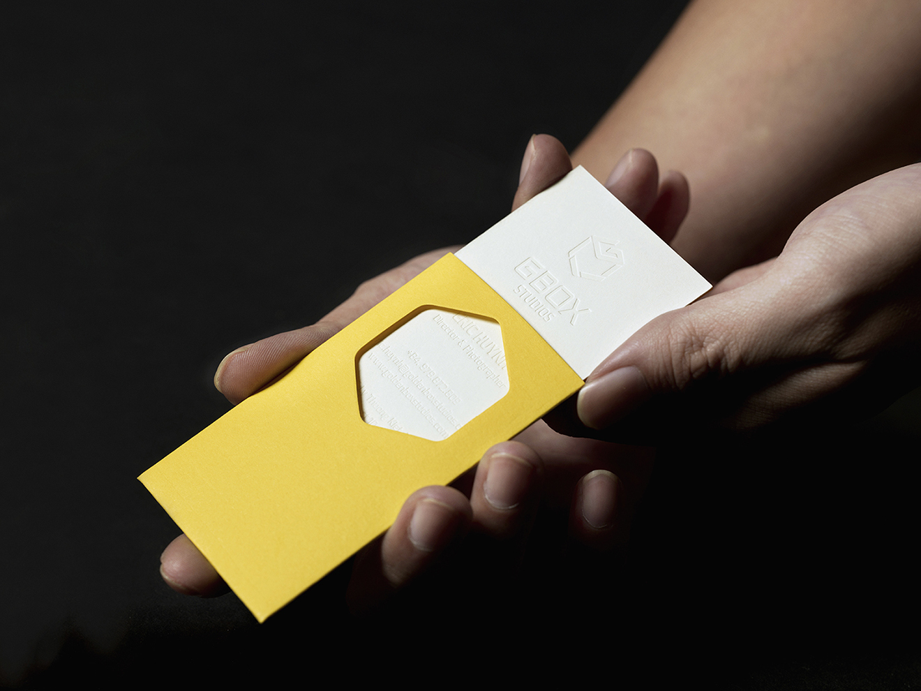 business card design-debossed