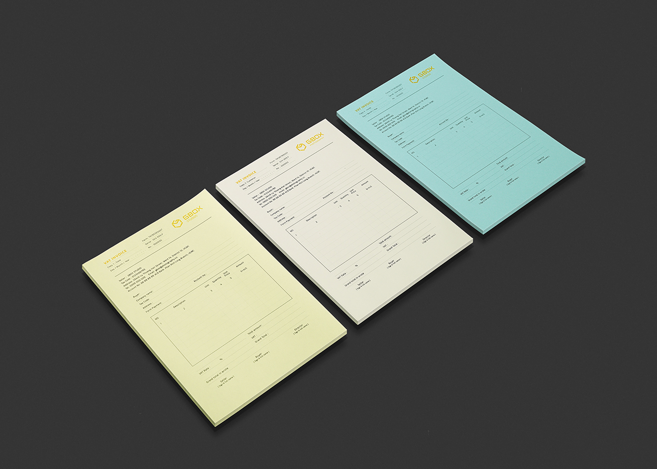 invoice design-gbox