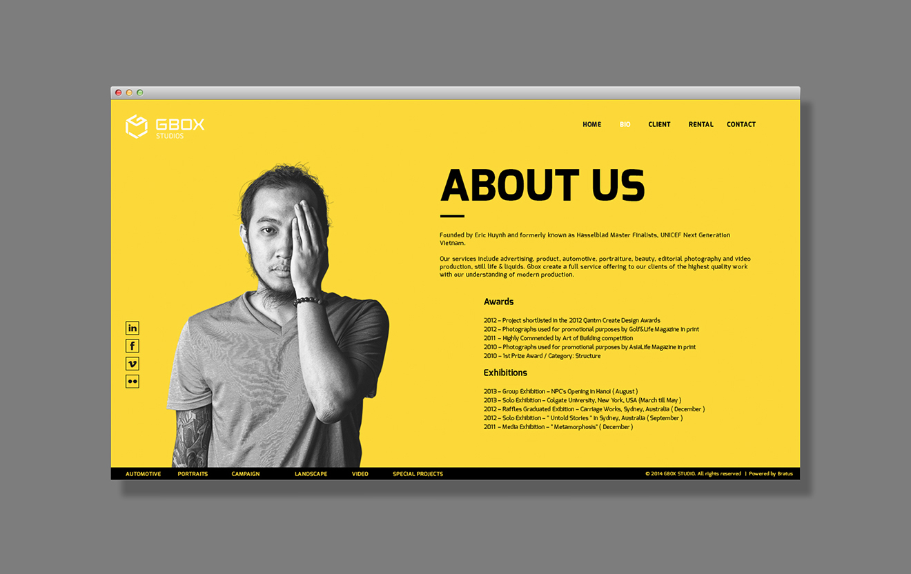 web typography -photography web