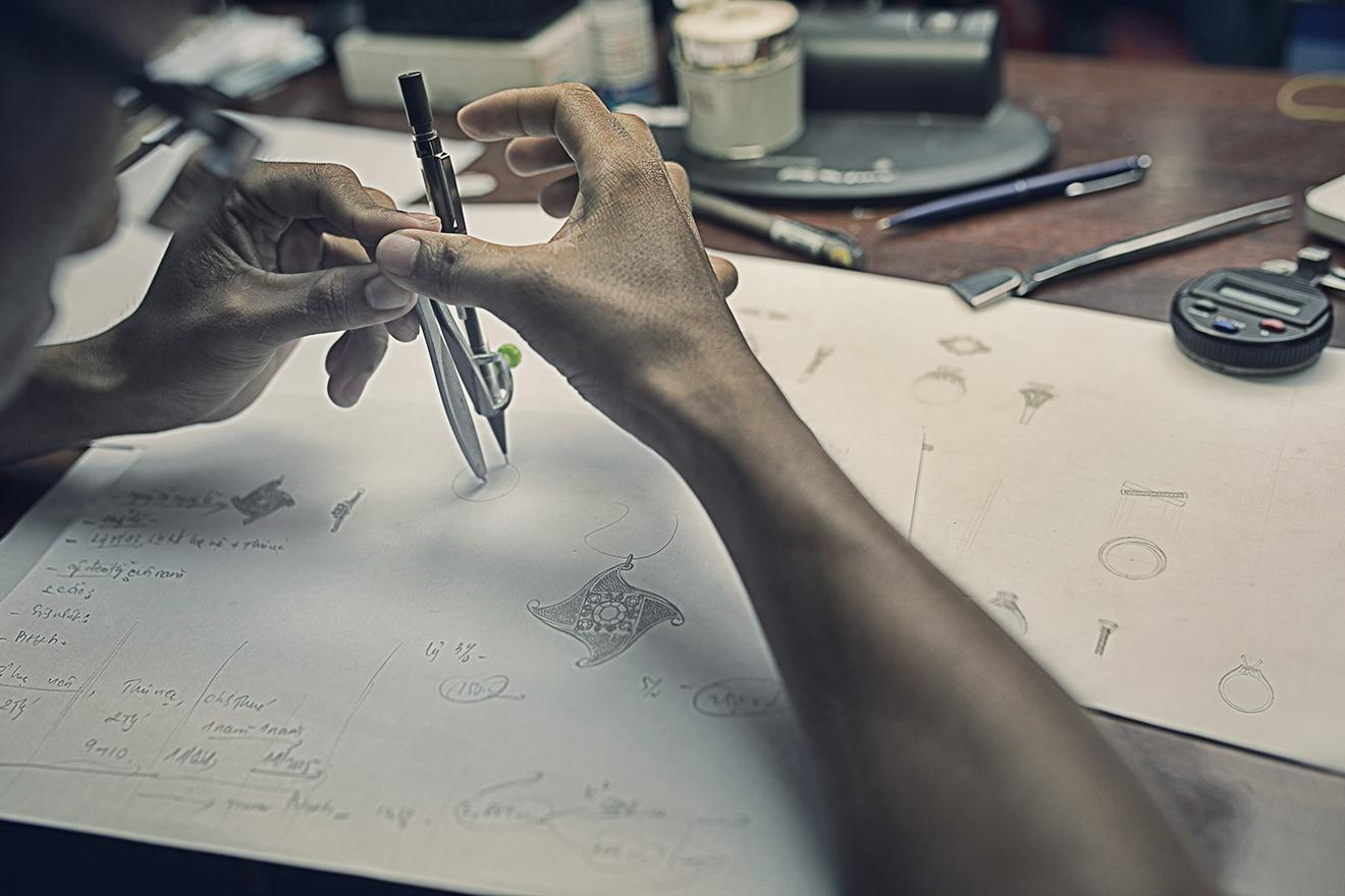 jewelery design process-thiet ke san pham trang suc- danh hien jewelers