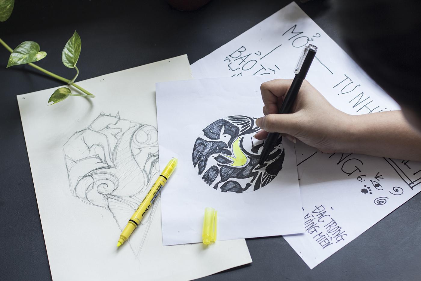 Vinpearl Safari phu quoc-bratus- vuon thu mo-logo designer vietnam