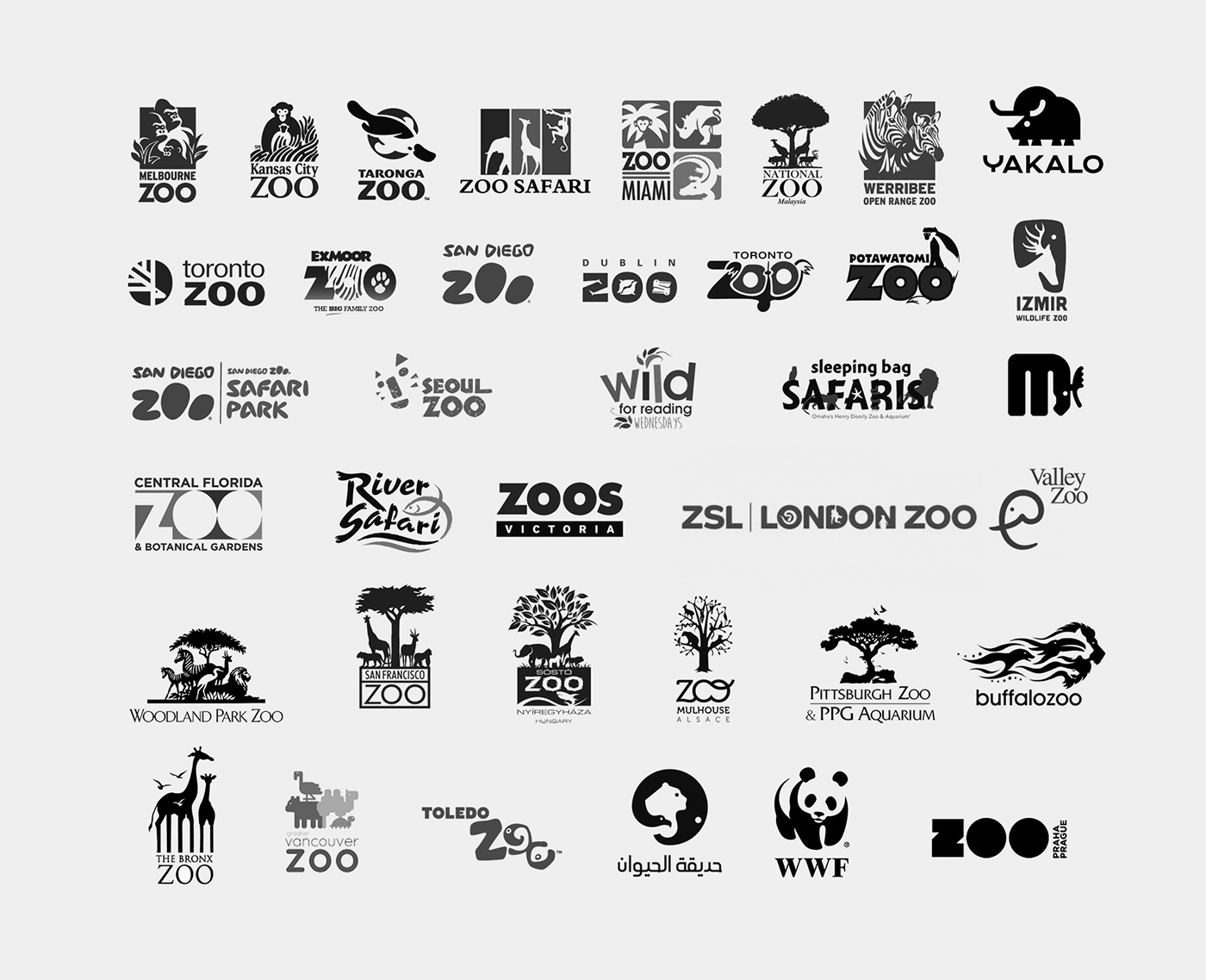 zoo logo-zoo symbols-zoo logo collection