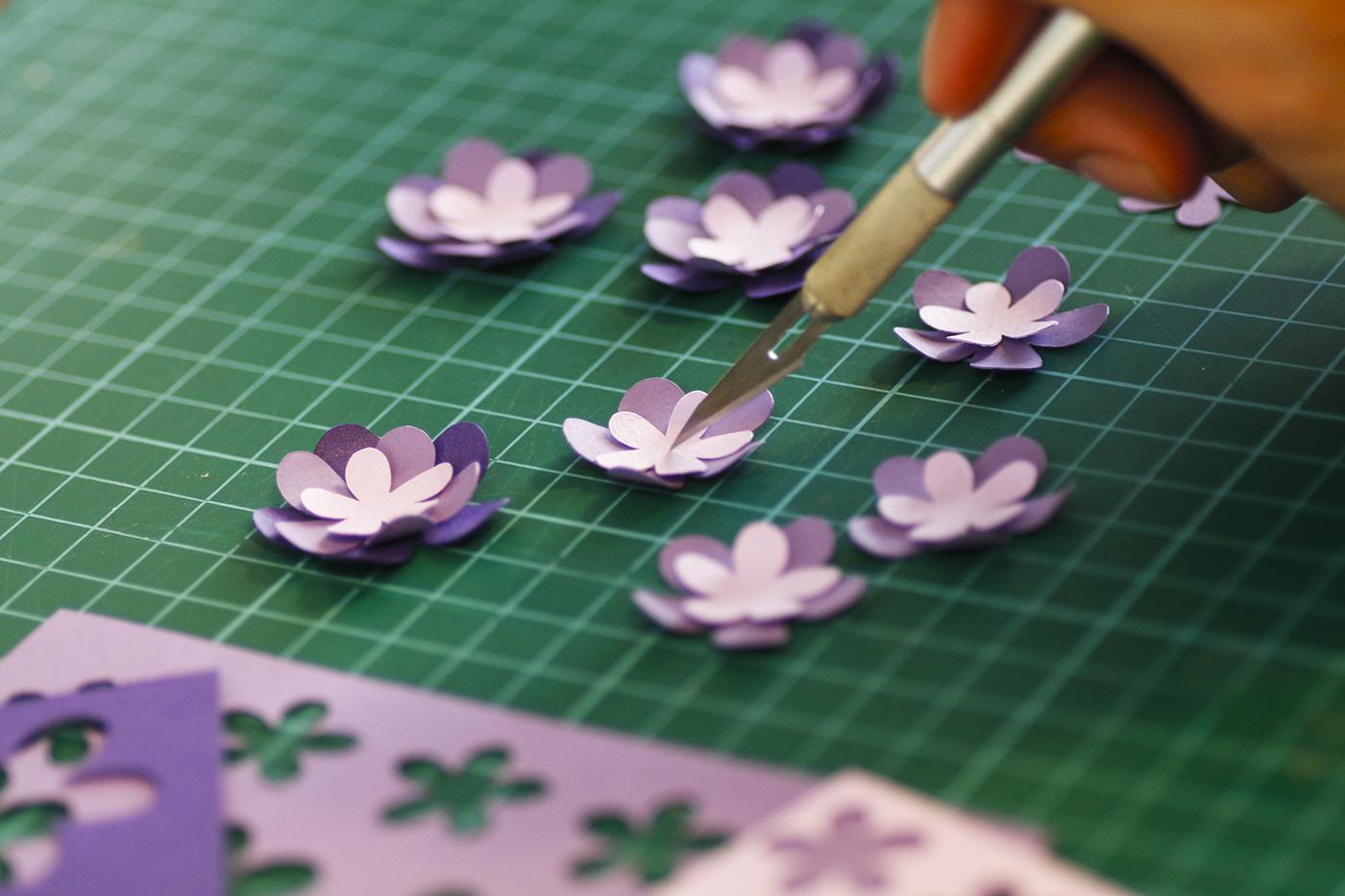 hoa mai giay-hand craft paper